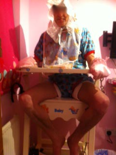Adult Baby in Highchair