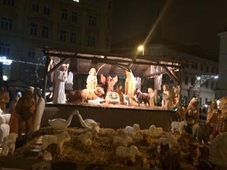 Nativity Scene at Night Brno