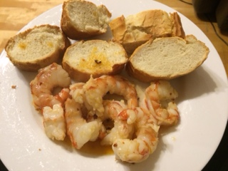 Garlic Chilli Prawns made by Nanny Betty