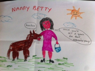 Drawing of Nanny Betty