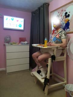 Highchair in new nursery