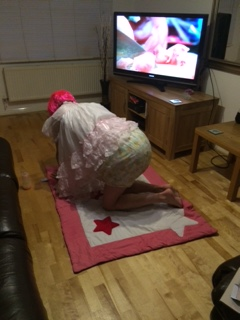 Adult Baby Crawling