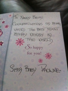 Card Best Nanny