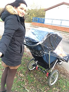 Nanny Betty with AB Pram