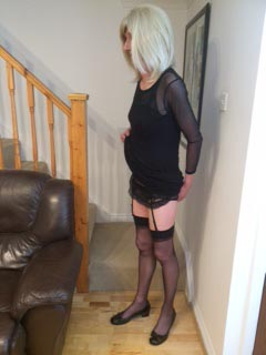 Tranny in stockings