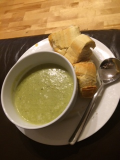 Broccoli and Stilton Soup made by Nanny Betty